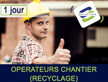 Formation Amiante SS4 opérateur recyclage