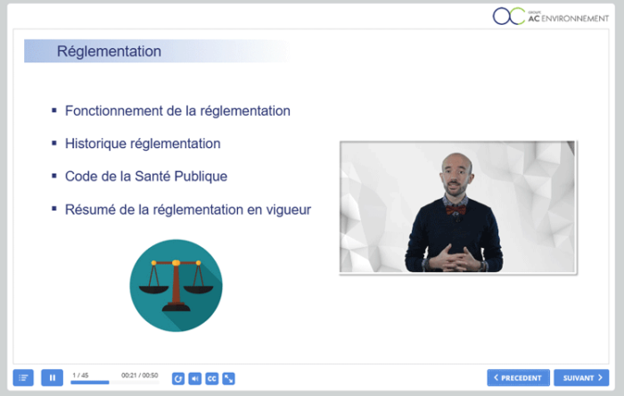 Formation amiante avec mention à distance